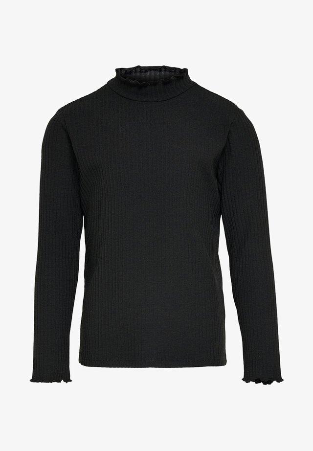 MIT LANGEN ÄRMELN EINFARBIGES - Long sleeved top - black