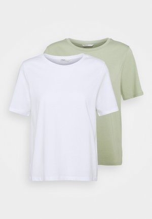 ONLONLY LIFE 2 PACK  - Camiseta estampada - white/desert sage