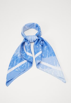 SPIRAL TIE DYE SCARF - Skjerf - crew blue
