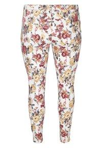 Zizzi - Slim fit jeans - white flower aop - 5