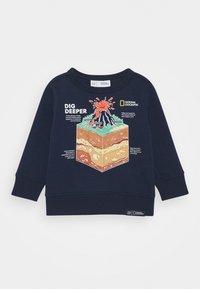 GAP - TODDLER BOY NATIONAL GEOGRAPHIC GEO CREW - Sweatshirt - tapestry navy - 0