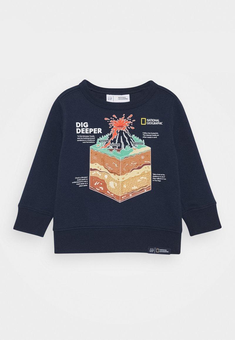 GAP - TODDLER BOY NATIONAL GEOGRAPHIC GEO CREW - Sweatshirt - tapestry navy