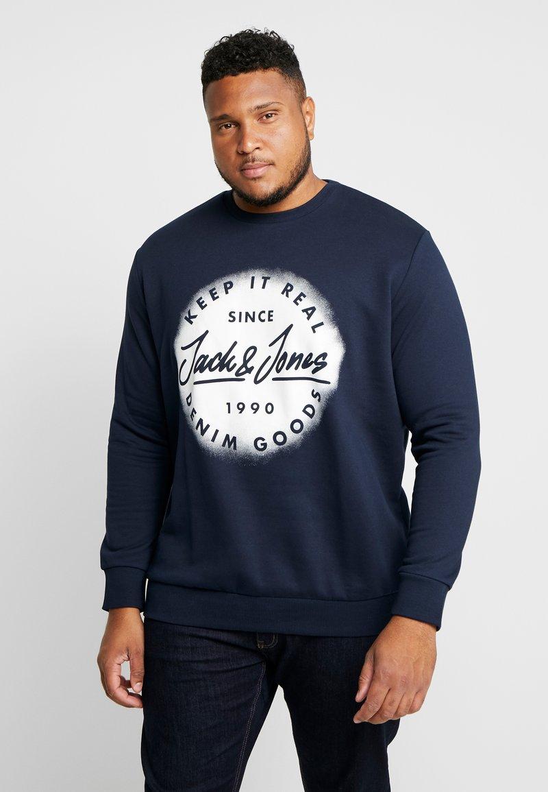 Jack & Jones - JORSPRAYED CREW NECK - Sweatshirt - navy blazer