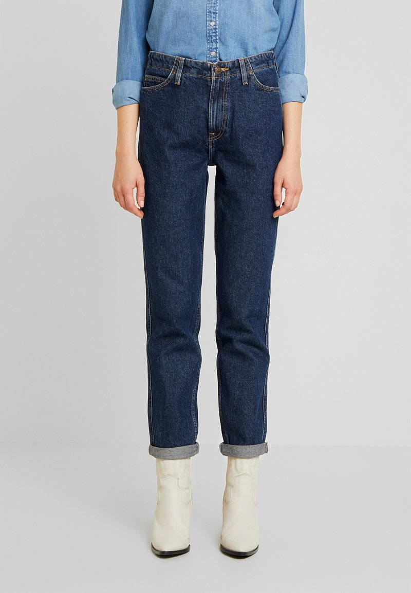 Lee - TAILORED MOM - Straight leg jeans - dark worn
