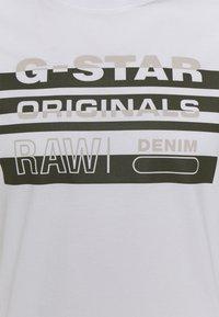 G-Star - ORIGINALS STRIPE LOGO - T-shirt con stampa - white - 2