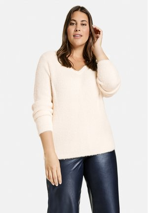 LANGARM - Fleece trui - off-white