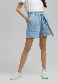 Esprit - Denim shorts - blue light washed - 3