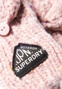Superdry - GRACIE - Fingerless gloves - candy tweed pink - 2