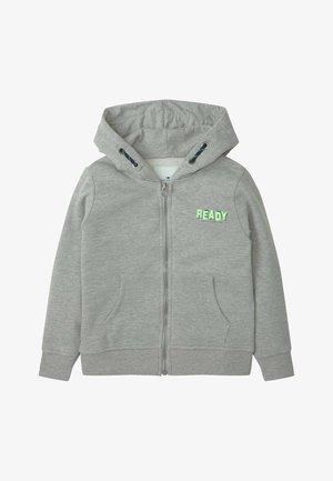 Zip-up sweatshirt - drizzle melange|gray