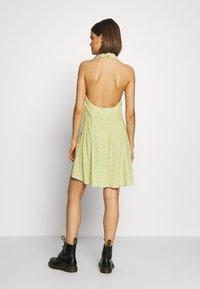 Rolla's - HALTER MINI TULIPS DRESS - Day dress - citron - 2