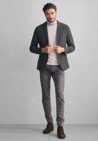Falconeri - BLAZER AUS KASCHMIRJERSEY - Blazer jacket - grey - 1