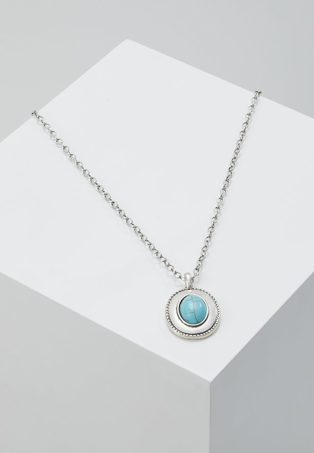 LIME STONE PENDANT NECKLACE - Smykke - silver-coloured