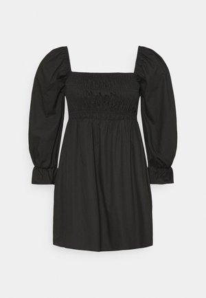 PLUS MILKMAID SHIRRED SKAT - Day dress - black