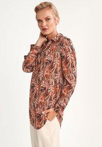 comma - LONG - Button-down blouse - black paisley - 2