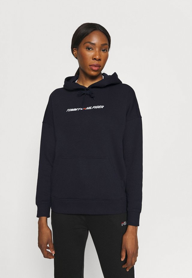RELAXED GRAPHIC HOODIE - Sweat à capuche - blue