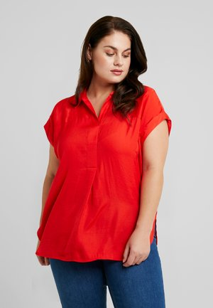 COLLARED RUMPLE BLOUSE - Blouse - crimson red
