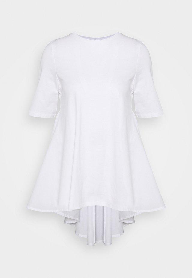 ONLESSA LIFE MIX  - T-shirt z nadrukiem - bright white