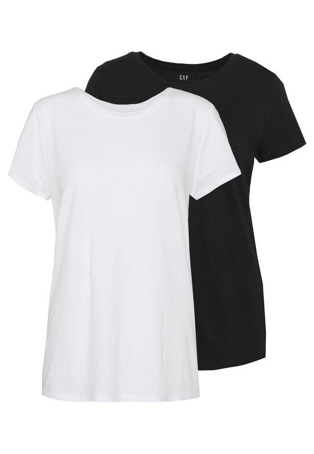 CREW 2 PACK - Jednoduché triko - true black