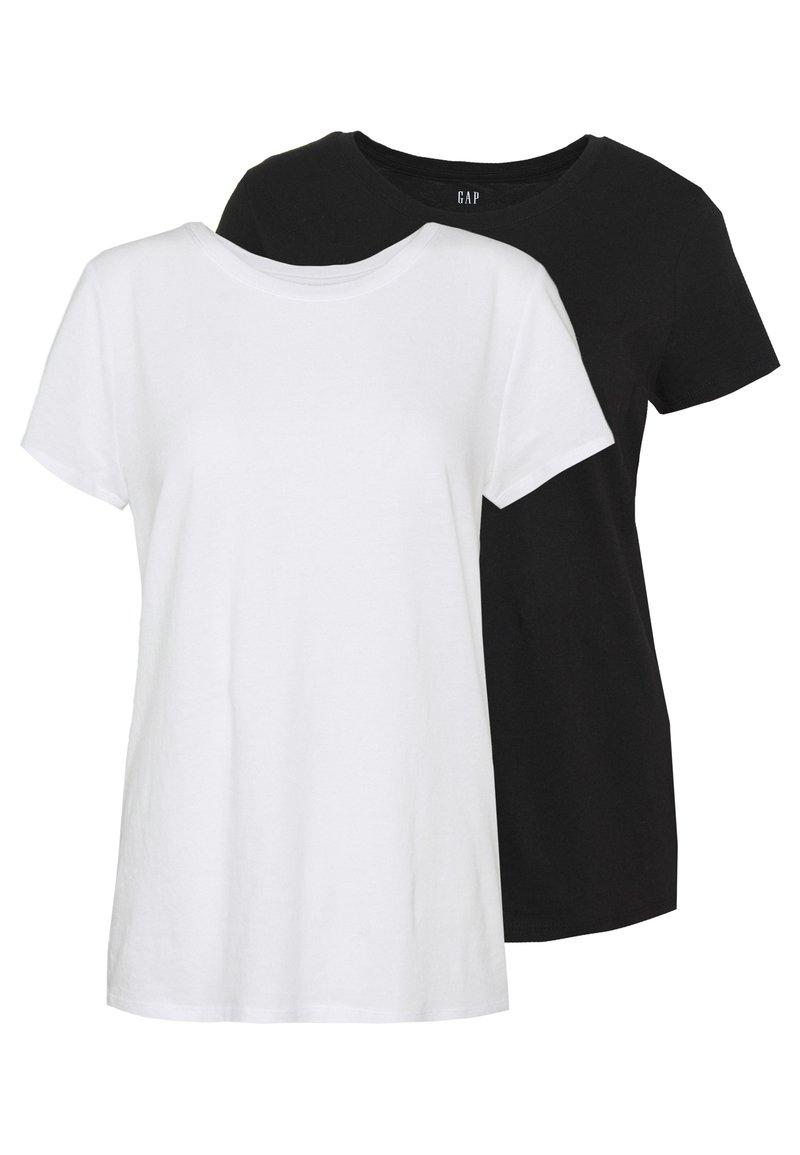 GAP - CREW 2 PACK - T-shirt basic - true black