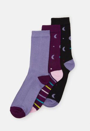 MOON SOCKS 3 PACK - Strømper - multi