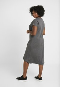 Simply Be - SEVERE ASYMMETRIC - Robe en jersey - charcoal marl - 2