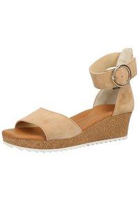 Paul Green - Platform sandals - beige 006 - 2