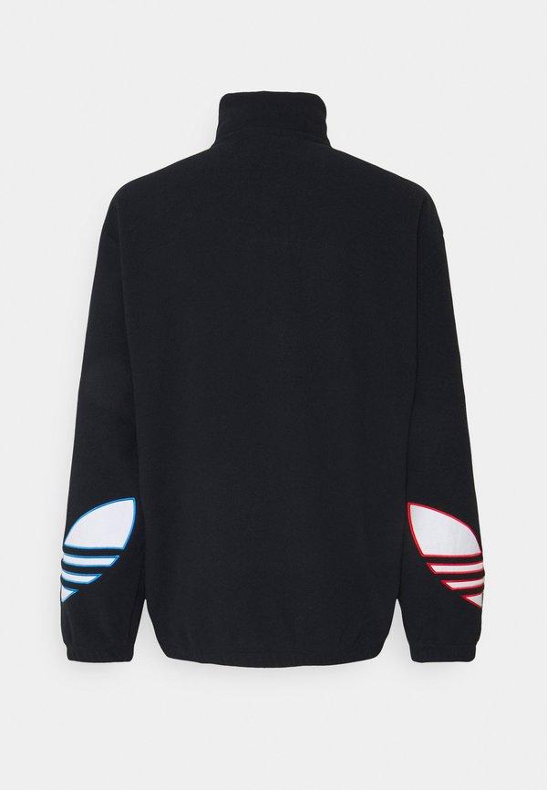 adidas Originals TRICOL UNISEX - Bluza z polaru - black/czarny Odzież Męska XUIE