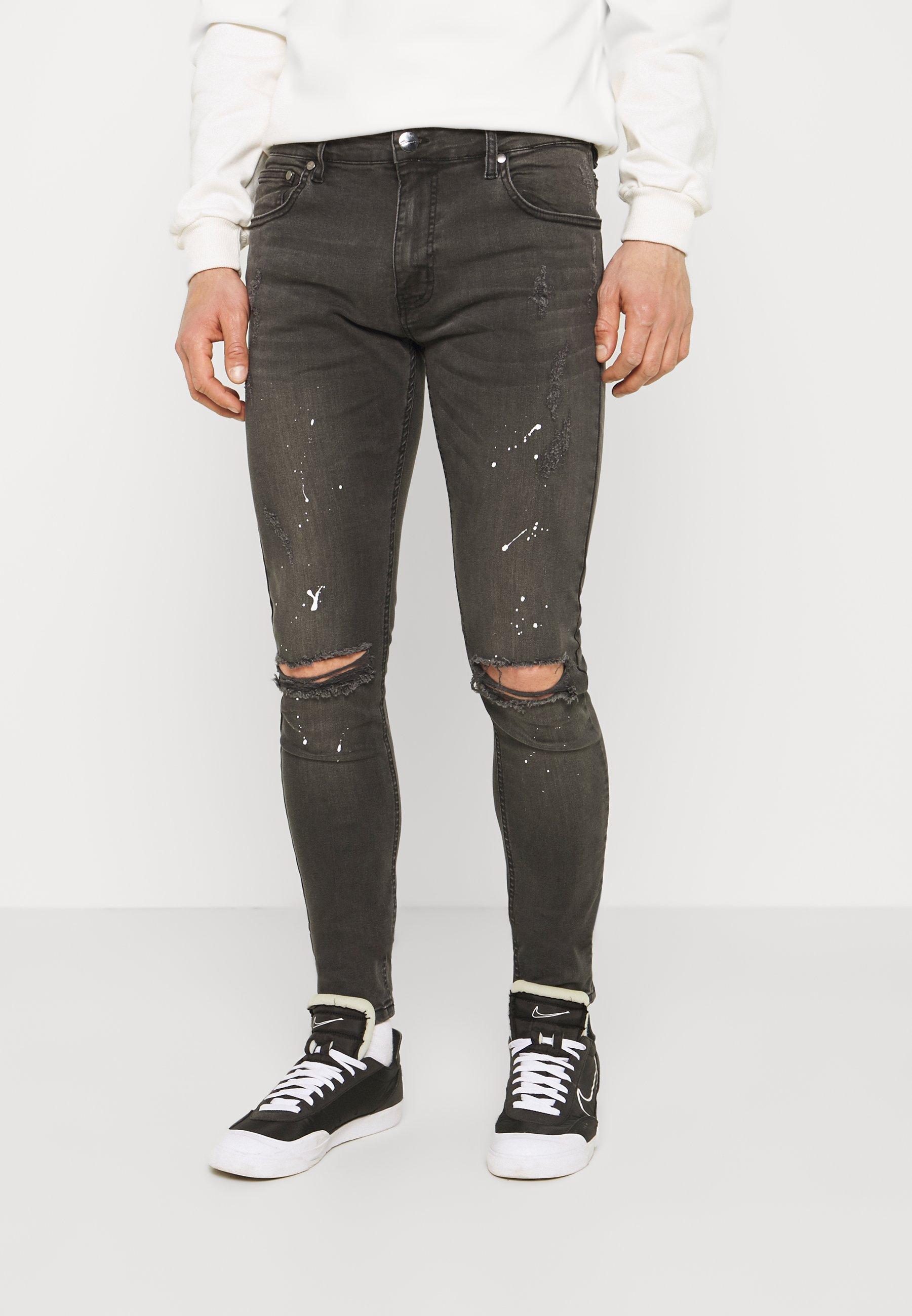 Men SPLATTER - Jeans Skinny Fit