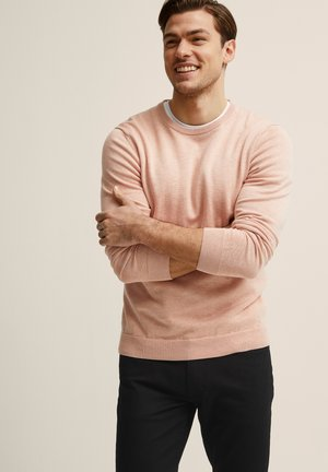MENTON - Stickad tröja - light pink mel