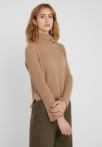 pure cashmere - TURTLENECK - Trui - dark beige - 0