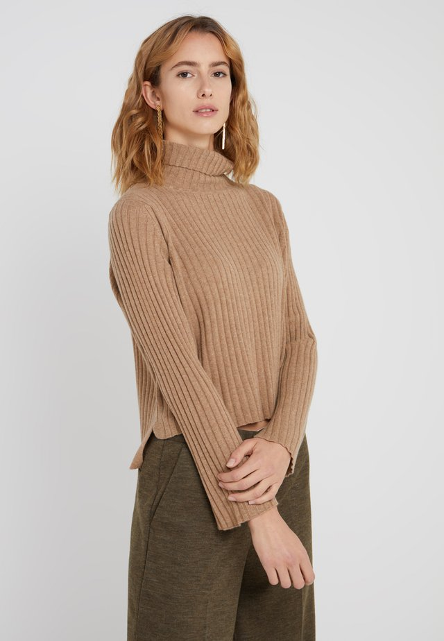 TURTLENECK - Jumper - dark beige
