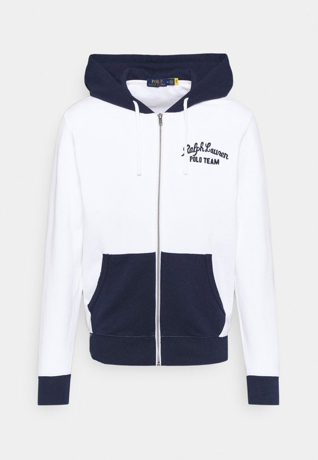 veste en sweat zippée - white/multi