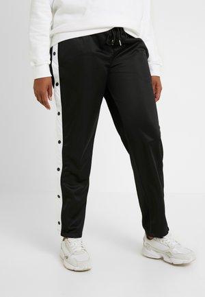 LADIES BUTTON UP TRACK PANTS - Tracksuit bottoms - black