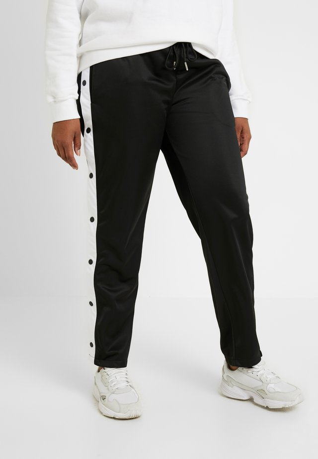 LADIES BUTTON UP TRACK PANTS - Spodnie treningowe - black