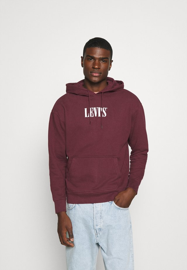 RELAXED GRAPHIC  - Hoodie - bordeaux