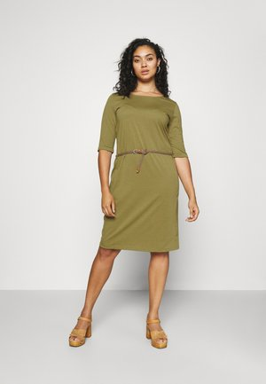 TAMILA - Jersey dress - khaki