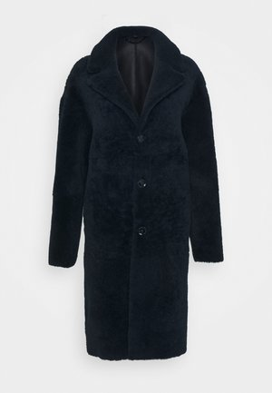 SHEARLING COAT - Classic coat - dark ink