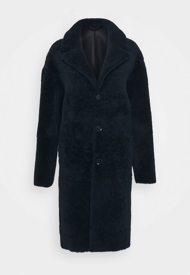 SHEARLING COAT - Mantel - dark ink