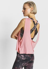 Cotton On Body - CROPPED KEY HOLE WASHED TANK - Top - rose - 2