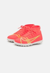 Nike Performance - MERCURIAL 8 CLUB TF UNISEX - Astro turf trainers - bright crimson/metallic silver - 1