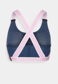 Mons Royale - STELLA X BACK BRA - Light support sports bra - dark denim/powder pink - 1