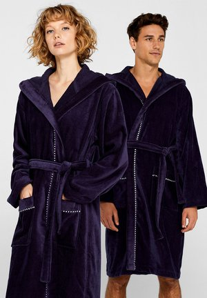 Dressing gown - navy blue
