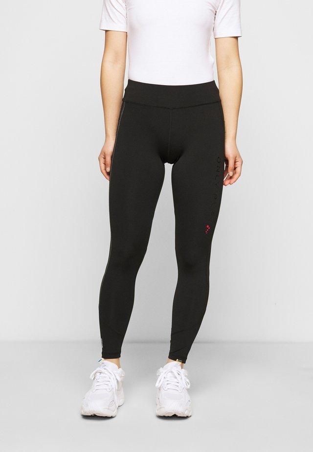 ONPPERFORMANCE RUN TIGHTS  - Leggings - Trousers - black/black/red