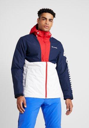TIMBERTURNER JACKET - Snowboard jacket - white/collegiate navy