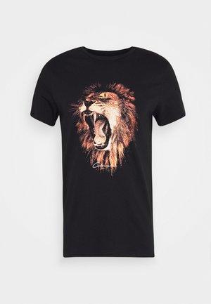 LION - T-shirt med print - black