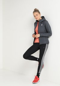 adidas Performance - VARILITY SOFT HOODED OUTDOOR DOWN JACKET - Winter jacket - carbon - 1