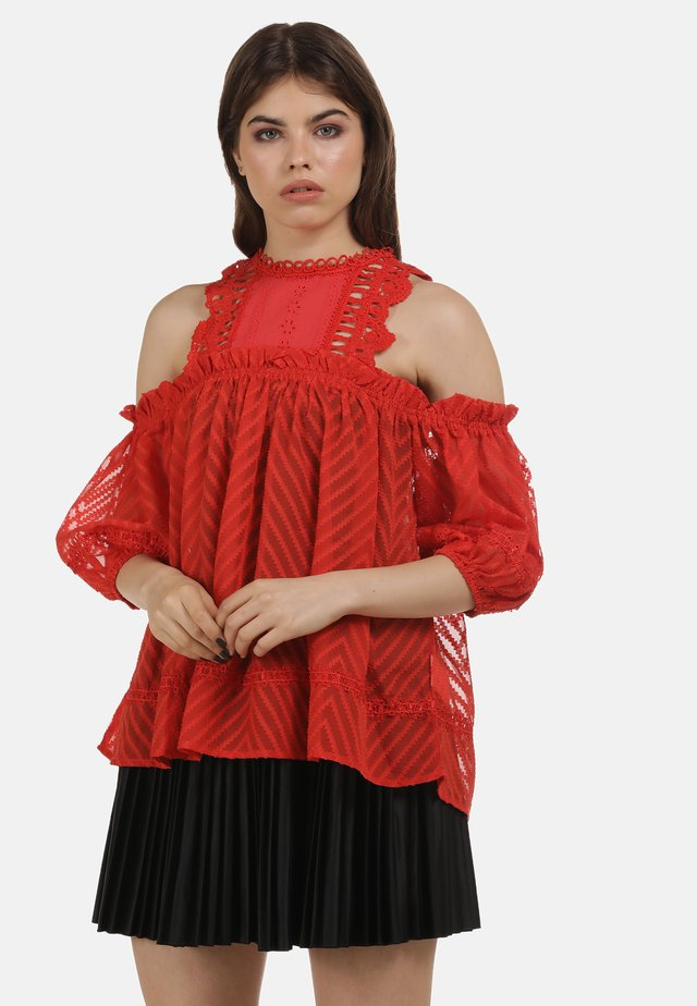 BLUSE - Blouse - red