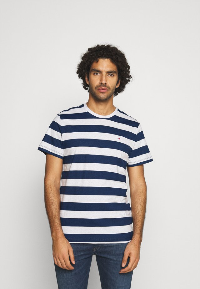 HEATHER STRIPE TEE - T-shirt imprimé - twilight navy