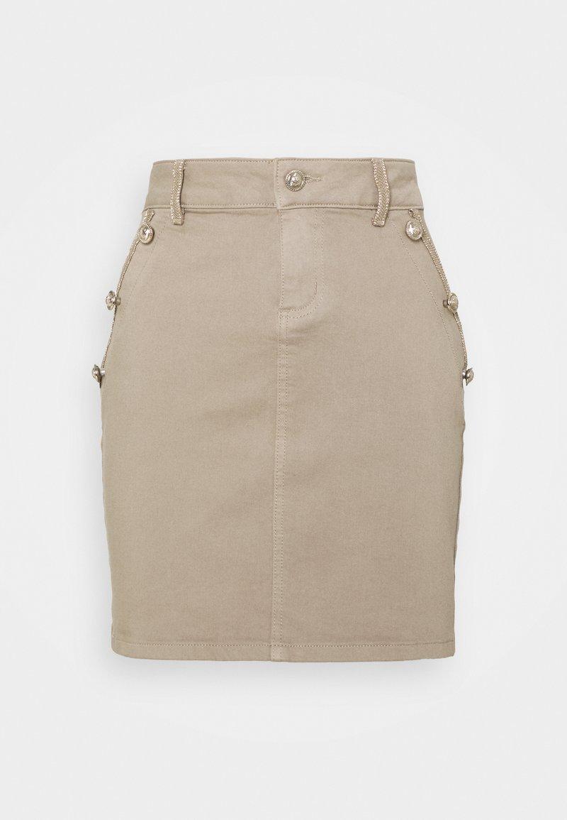 Morgan - JAYE - Mini skirt - mastic