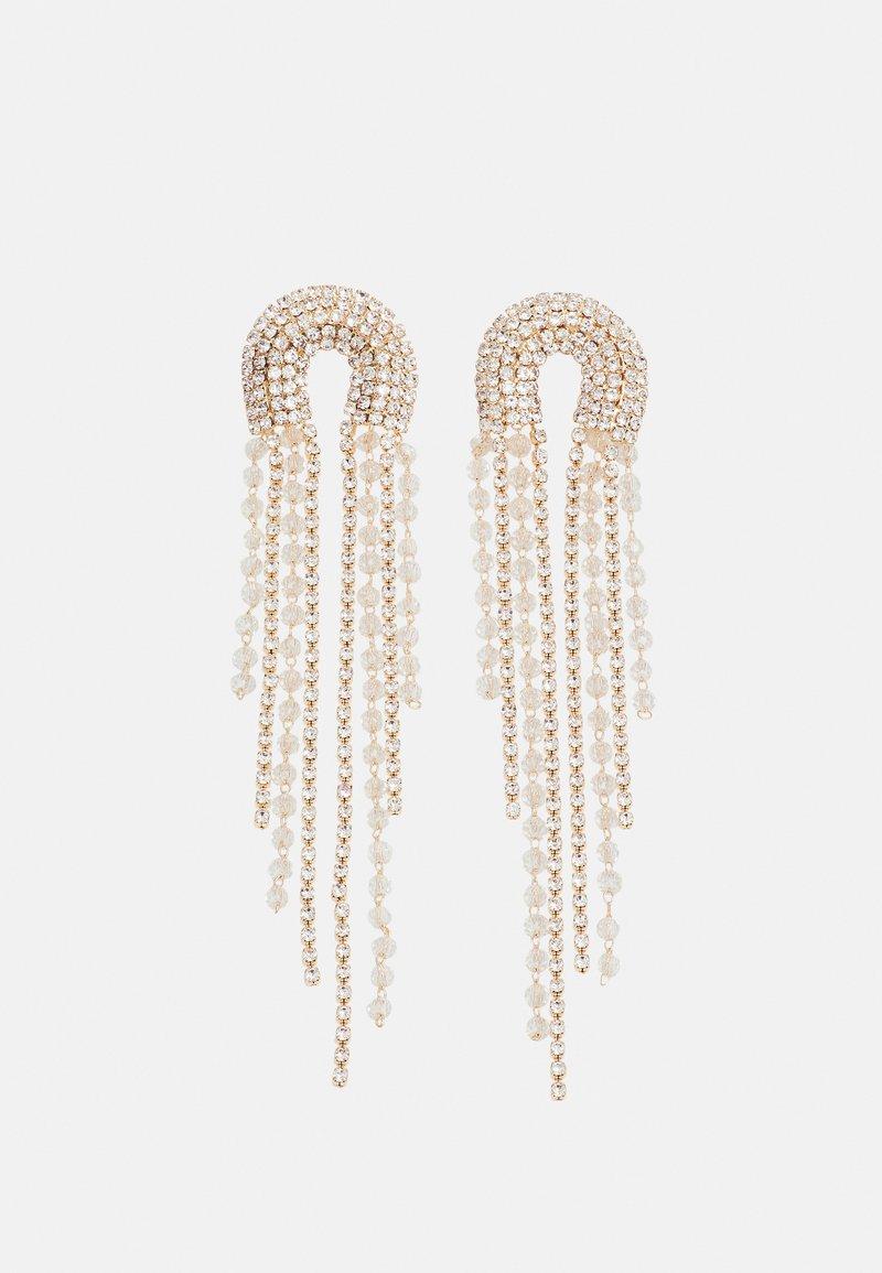 Pieces - PCZANGO EARRINGS - Earrings - gold-coloured/clear